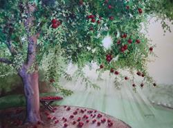 Art: Apple Tree SOLD by Artist Kathy Haney