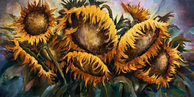 Art: sunflowers by Artist Michael A Lang