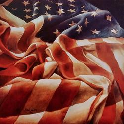 Art: Old Glory by Artist Michael A Lang