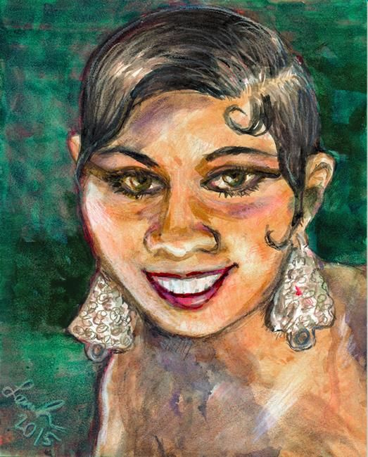 Art: Josephine Baker by Artist Laura Ross