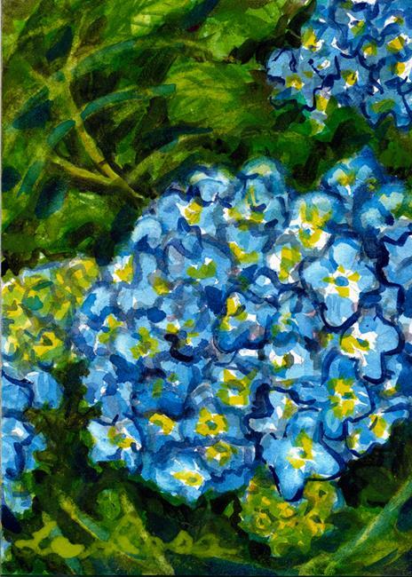 Art: Blue Hydrangea by Artist Laura Ross