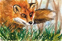 Art: Red Fox by Artist Laura Ross