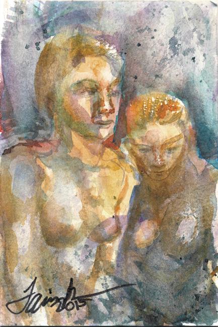 Art: Mermaids by Artist Laura Ross