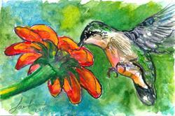 Art: Hummingbird (SOLD) by Artist Laura Ross