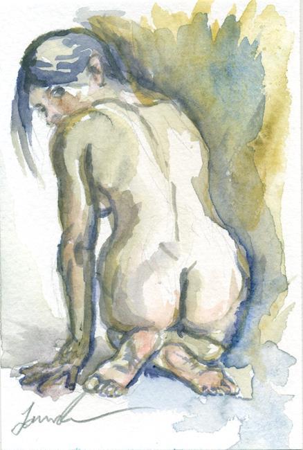 Art: Kneeling Woman by Artist Laura Ross