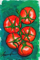 Art: Vine Tomatoes (Sold) by Artist Laura Ross