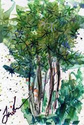 Art: Pines by Artist Laura Ross