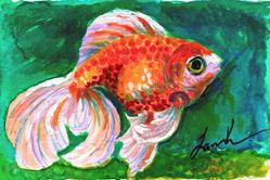 Art: Goldfish by Artist Laura Ross