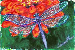 Art: Dragonfly  (SOLD) by Artist Laura Ross
