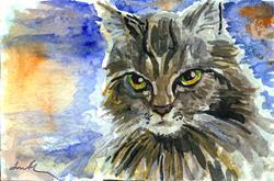 Art: Cat by Artist Laura Ross