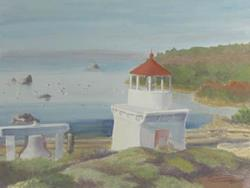 Art: Trinidad Head Memorial Light by Artist Carol Thompson