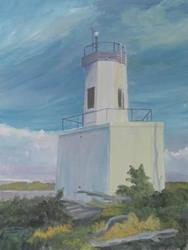 Art: Warrior Rock Light by Artist Carol Thompson