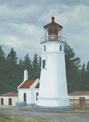Art: Umpqua River Lighthouse by Carol Thompson