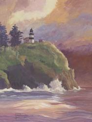Art: Cape Disappointment Light Station by Artist Carol Thompson