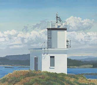 Art: Cattle Point Lighthouse by Artist Carol Thompson