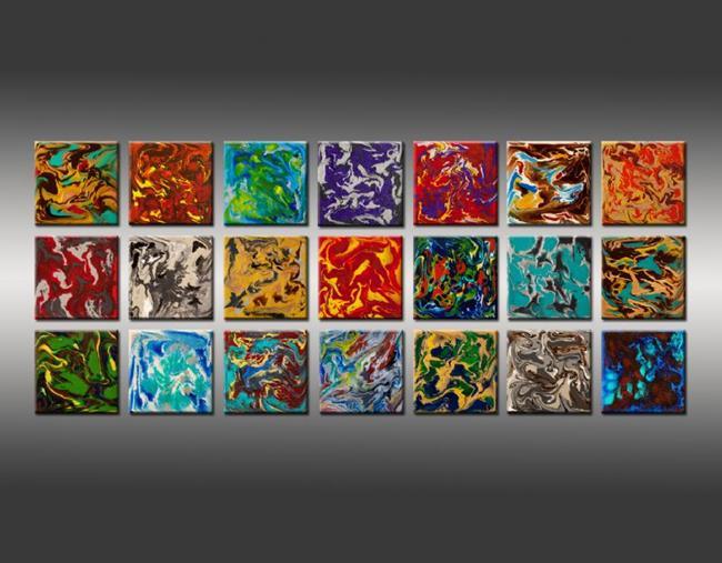 Art: Liquid Industrial 4 by Artist Hilary Winfield