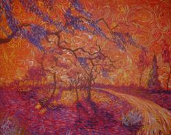 Art: wisteria on a red day by Artist Stefan Duncan