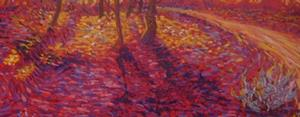 Detail Image for art wisteria on a red day