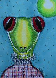 Art: VICTORIAN GECKO-Sold by Artist Sherry Key