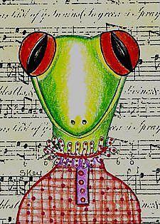 Art: Miss Lizzy Victorian Music Teacher-Sold by Artist Sherry Key