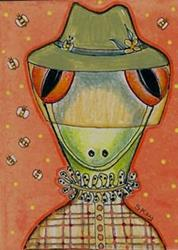 Art: Miss Lizzy Goes Beekeeping-Sold by Artist Sherry Key