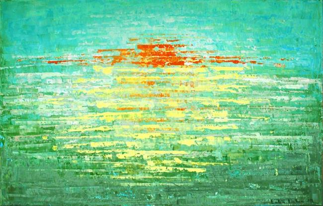 Art: Sunrise Over The Sea (s) by Artist Luba Lubin
