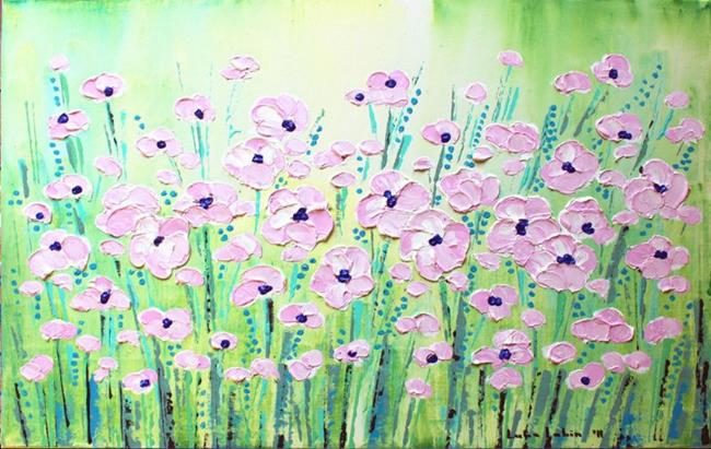 Art: Pink Flowers (s) by Artist Luba Lubin