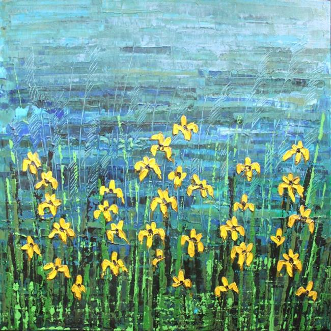 Art: Yellow Irises (s) by Artist Luba Lubin