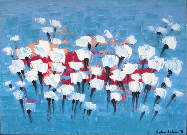Art: White Tulips by Artist Luba Lubin