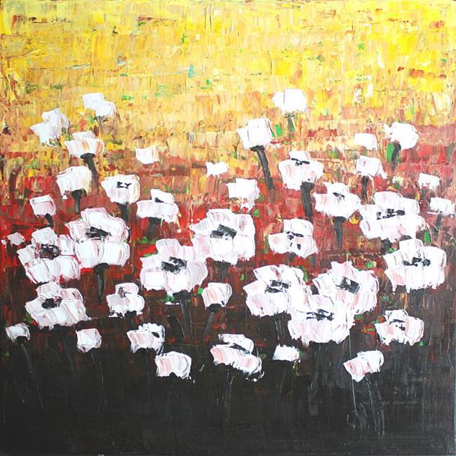 Art: White Flowers (s) by Artist Luba Lubin