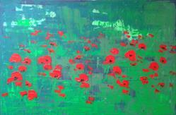 Art: Red Poppies by Artist Luba Lubin