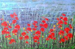 Art: Red Poppies - 136 by Artist Luba Lubin