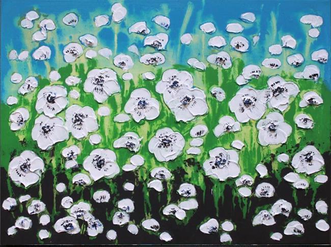 Art: Veldbloemen-Wild flowers (s) by Artist Luba Lubin