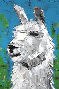 Detail Image for art Two Llamas - oil