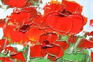 Detail Image for art Red Geraniums - House Plant - oil