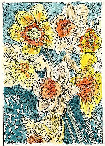 Art: SCRUMPTIOUS  SCINTILLATING DAFFODILS by Artist Theodora Demetriades
