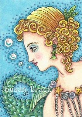 Art: IN AN ART DECO SEA by Artist Susan Brack