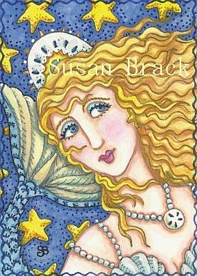 Art: BLUE PEARL MERMAID by Artist Susan Brack