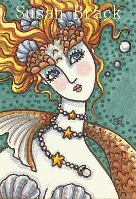 Art: GOLDFISH PRINCESS by Artist Susan Brack