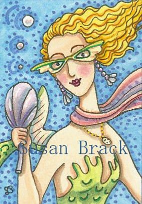 Art: LOOKING FAB IN FISH FIN GLASSES by Artist Susan Brack