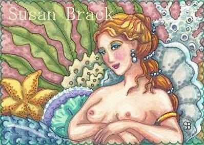 Art: RECLINING MERMAID by Artist Susan Brack