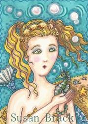 Art: SEAHORSE RESCUE by Artist Susan Brack