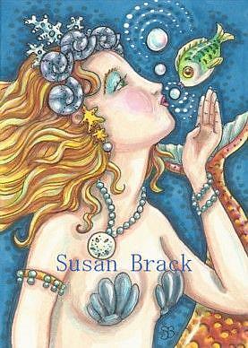 Art: BUBBLE KISSES AND AFFECTION by Artist Susan Brack