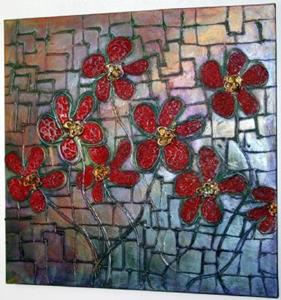Detail Image for art RED FLOWERS in RAINBOW LIGHT