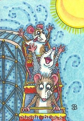 Art: ROLLER COASTER RATS by Artist Susan Brack