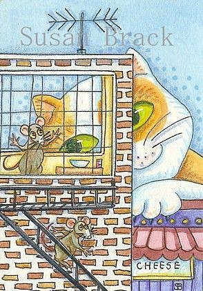 Art: CATZILLA by Artist Susan Brack