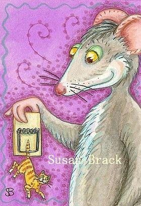 Art: CAT TRAP by Artist Susan Brack