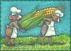 Art: CORN FOR THE COOK OUT by Artist Susan Brack
