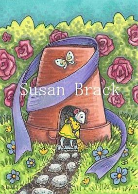 Art: FIXER UPPER MOUSE HOUSE by Artist Susan Brack