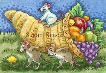 Art: HORN OF PLENTY by Artist Susan Brack
